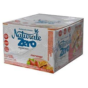 Barra de cereais zero açúcar sabor morango c/ 24 unidade de 22g - Naturale
