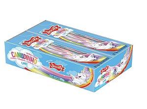 Canudinho Colorido Morango Cítrico Unicórnio 12 pacotes de 15g - Docile
