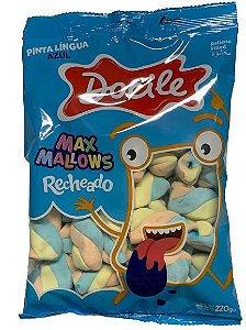 Marshmallow Recheado Twist Pinta Lingua Azul 220g - Docile