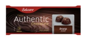 Chocolate authentic zero açúcar Amargo 1,01kg - Salware
