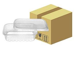 Caixa Pote retangular 250ml com Tampa 144 un (6 embalagens com 24 unidades) - Prafesta