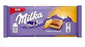 Chocolate Cream & Biscuit  100g - Milka