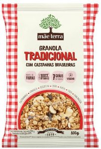 Mix Granola Tradicional com Castanhas brasileiras 800g - Mãe e Terra