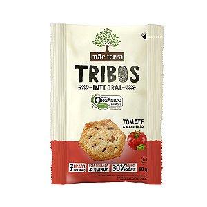 Biscoito Tribos integral tomate e manjericão 50g - Mãe Terra