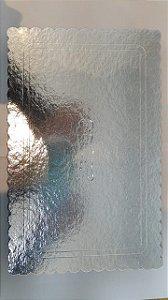 Cake board premium Retangular prata N30x19 cm -Curifest
