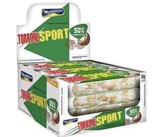Torrone Sport Amendoim e Coco com 12 unidades de 30g - Montevergine