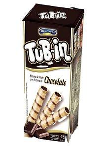 Tubetes Tub-in bis wafer recheio chocolate 48g - Montevergine