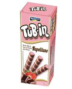 Tubetes Tub-in biscoito wafer recheio Napolitano 48g - Montevergine
