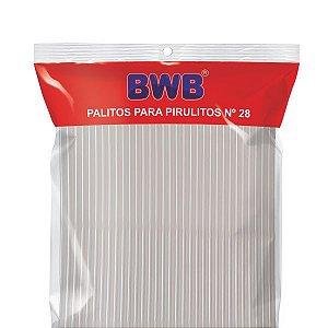 Palitos Para Pirulitos Grande Branco N°28 com 50 unidades (cod.282) - Bwb