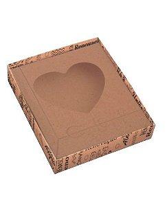 Caixa Mensagens Ovo colher coração 250g com 10 unidades - Curifest