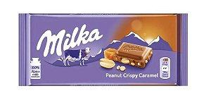 Milka Peanut Crispy Caramel 100g