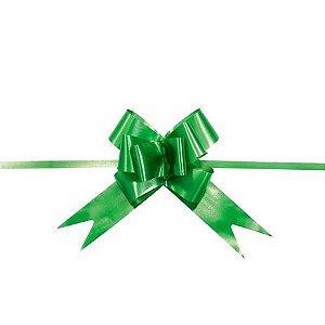 Laço pronto verde 2,3x42cm com 10 unidades - Carber