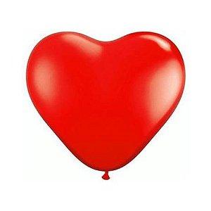 Balão coração n. 6 com 50 unidades - Artlatex