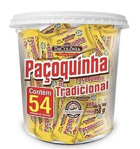 Paçoca Rolha Tradicional com 54 unidades de 14g (Pote 756g) - Dacolonia