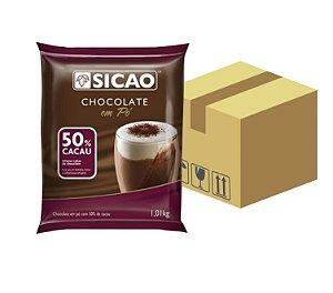 Caixa Chocolate Em Pó 50% Cacau 1Kg C/ 10 unidades- Sicao