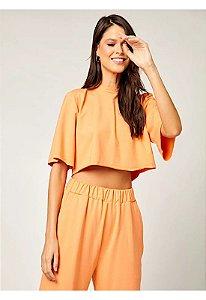 Blusa cropped laranja