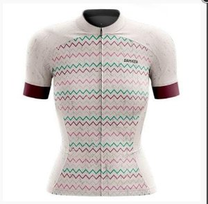 Camisa Bike Rombo Branco / Rosa - Damatta