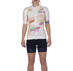Camisa Ciclismo Supreme Holanda Feminina - Woom