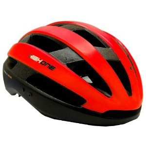 Capacete High One Bike MTB/Speed Wind Aero Preto c/ Vermelho