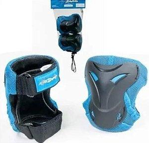 Kit Proteção Infantil KZ-192 Preto/Azul (tam: M) - KidZamo