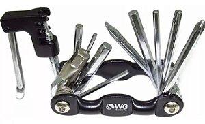 Chave Canivete Allen 10 Funções com Extrator de Corrente - WG Sports