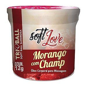 bolinhas soft love morango com champagne