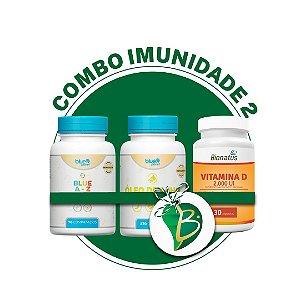 COMBO IMUNIDADE 2 - BLUE A-Z + ÓLEO DE ALHO + VITAMINA D