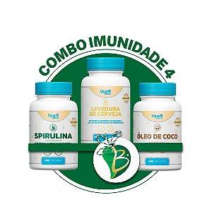 COMBO IMUNIDADE 4 - SPIRULINA + LEVEDURA DE CERVEJA + ÓLEO DE COCO