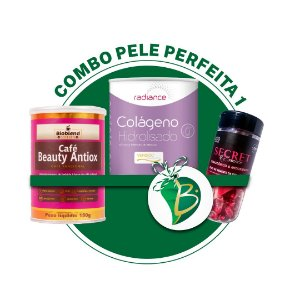 COMBO PELE PERFEITA 1 -  CAFÉ BEAUTY ANTIOX + SECRET TERMO ANTIOX + RADIANCE COLÁGENO HIDROLISADO VERISOL® (BIONATUS)
