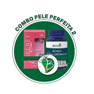 COMBO PELE PERFEITA 2 - SECRET HAIR, SKIN & NAILS + ÁCIDO HIALURÔNICO (BIONATUS)