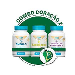 COMBO CORAÇÃO 2 - ÓLEO DE ALHO  + ÔMEGA 3 + CLORETO DE MAGNÉSIO