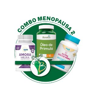 COMBO MENOPAUSA 2 - AMORA MIURA + ÓLEO DE PRÍMULA + EXTRA CÁLCIO MDK