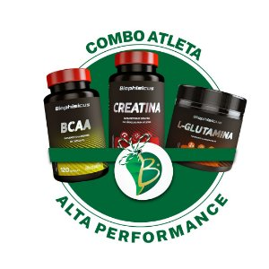 COMBO ATLETA ALTA PERFORMANCE - BCAA + L-GLUTAMINA + CREATINA