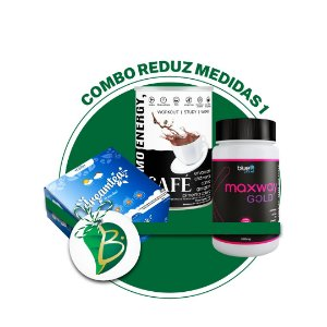 COMBO REDUZ MEDIDAS 1 - CHÁ DREAM TEA + CAFÉ THERMO ENERGY + MAXWAY GOLD