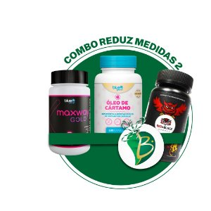 COMBO REDUZ MEDIDAS 2 - MAXWAY GOLD + ÓLEO DE CÁRTAMO + RED&BLACK ENERGY
