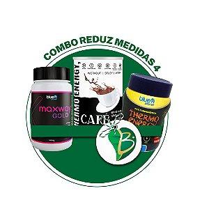 COMBO REDUZ MEDIDAS 4 - CAFÉ THERMO ENERGY + MAXWAY GOLD + CHÁ THERMO ENERGY