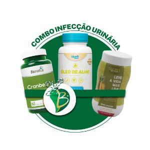 COMBO INFECÇÃO URINÁRIA - CRAMBERRY + SECRET DRINKS AQUALESS + ÓLEO DE ALHO