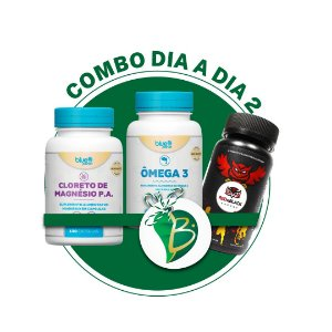 COMBO DIA A DIA 2 - CLORETO DE MAGNÉSIO P.A. + ÔMEGA 3 + RED&BLACK ENERGY