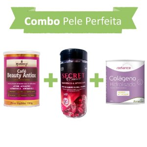 Pele perfeita! Café Beauty Antiox + Secret Thermo + Colágeno Hidrolisado Verisol