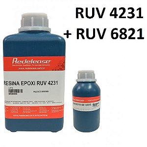 Resina 4231 Epoxi Transparente Com Proteção UV (Com Endurecedor) [1,430 Kg]