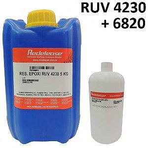 Resina 4230 Epoxi Transparente Para Altas Espessuras Com Proteção UV (Com Endurecedor) [5,900 Kg] UPMAX