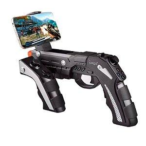 Controle Gamepad Gun Phantom Shox Bluetooth em Formato de Arma para Jogos de Tiro para Celular