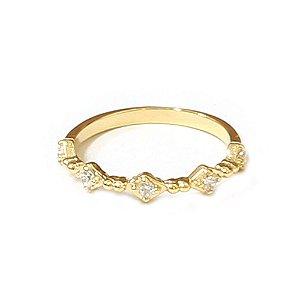 Anel Half Dourado