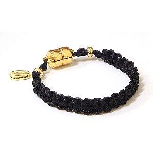 Pulseira Black Dourado
