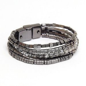 Pulseira Maria Rosa Grafite Black Diamond