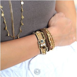 Look Pulseiras Golden Grey