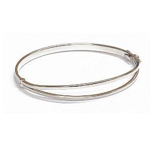 Bracelete Firenze Ródio Branco
