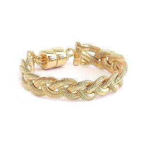 Pulseira Trança Snake Dourado