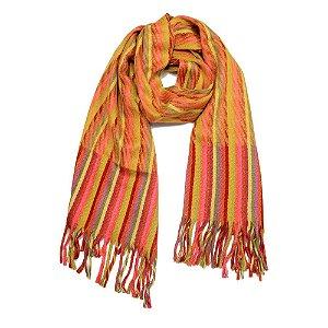 Cachecol Lã Argentina Listras Colors