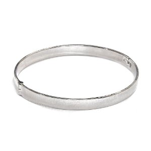 Bracelete Sintra Ródio Branco Escovado